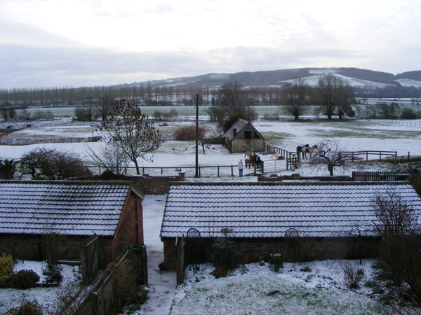 Yarkhill Court Barns in the Snow